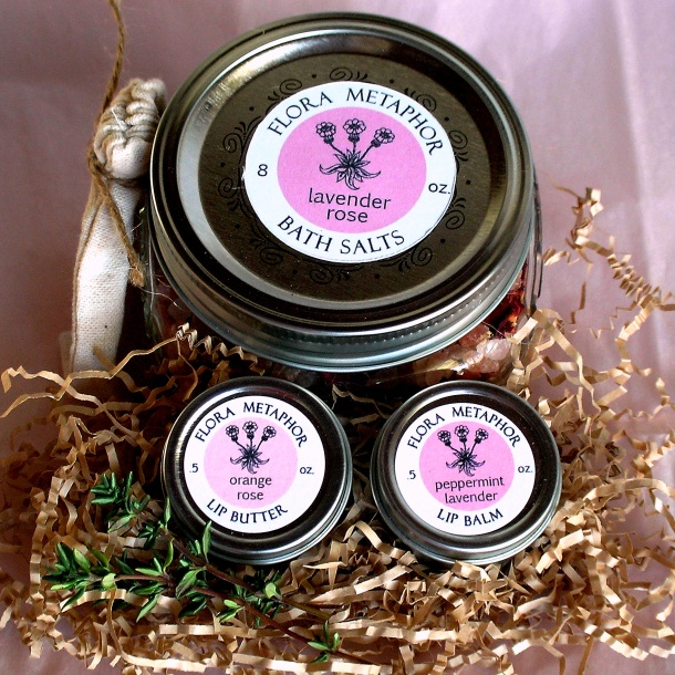 Lavender Rose bath and body trio | Flora Metaphor